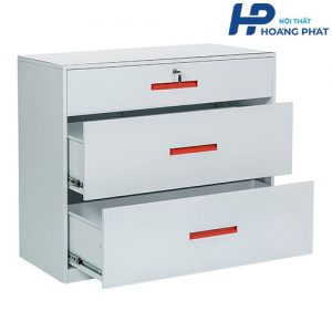 Tủ thép sơn tĩnh điện 3 ngăn kéo TU3FD
